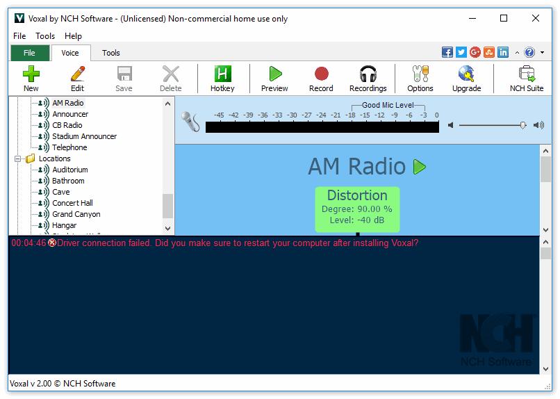 Программа Voxal Voice Changer